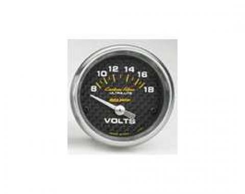 Camaro Voltmeter Gauge, Carbon Fiber, AutoMeter