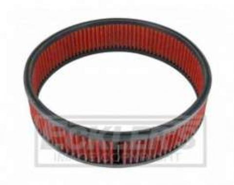 Camaro Spectre Performance Low Profile Air Box Replacement Filter, Red, 1967-1981