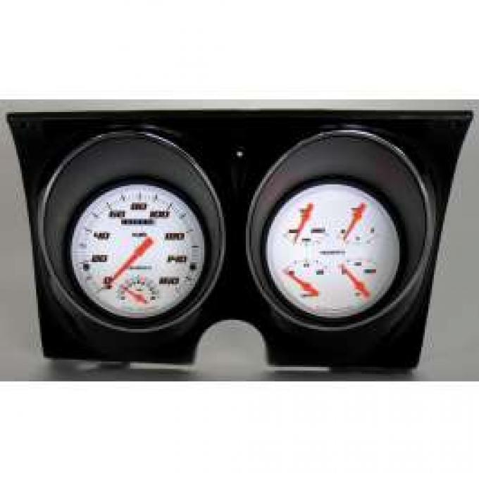 Camaro Updated Gauge Kit, Velocity White Series, Classic Instruments, 1967-1968