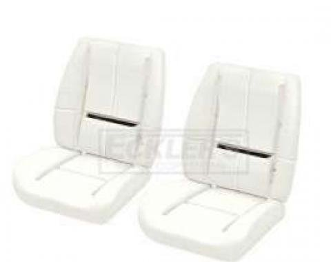 PUI Camaro Low-Back Bucket Deluxe Seat Foam With Wire, 1984-1992