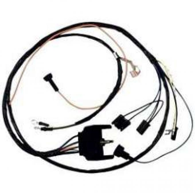 Camaro Engine Wiring Harness, Big Block, For Cars With Warning Lights & Carburetor Solenoid, 1969