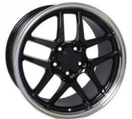 Camaro 17 X 9.5 Z06 Style Wheel, Black With Machined Lip, 1993-2002