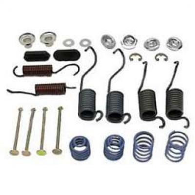 Camaro Drum Brake Shoe Mounting Hardware Kit, Rear, 1967-1969