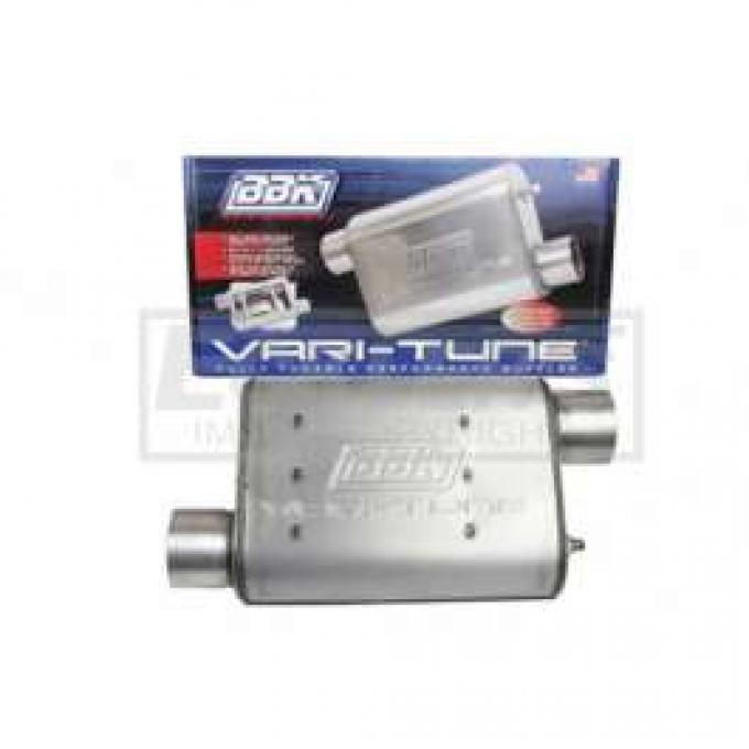 Camaro BBK 2-1/2 Vari-Tune Adjustable Stainless Steel Performance Muffler, Offset