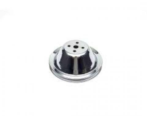 Camaro Water Pump Pulley, Small Block, Single Groove, Chrome, 1967-1968