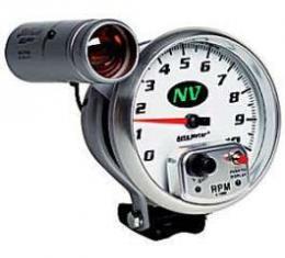 Camaro Tachometer, 5, White Face, 10,000 RPM, External Shift-Lite, NV, AutoMeter