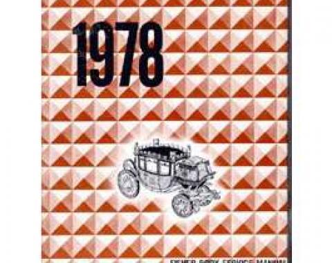 Camaro Fisher Body Service Manual, 1978