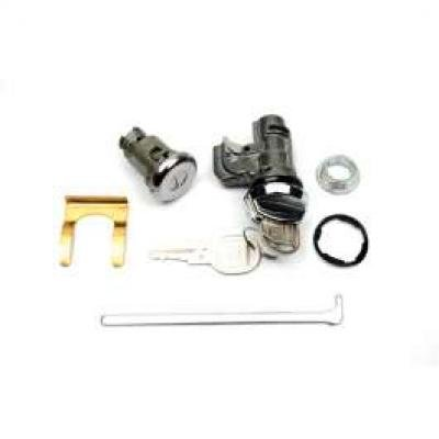 Camaro Glove Box & Trunk Lock Set, With Original Style Keys, 1969