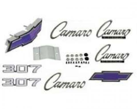 Camaro Emblem Kit, For Cars With Standard Trim (Non-Rally Sport) & 307ci, 1969