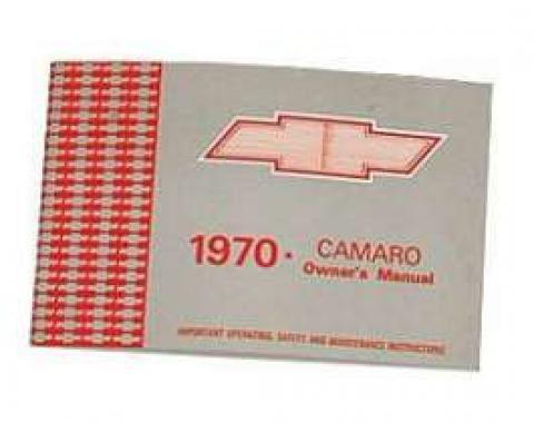 Camaro Owner's Manual, 1970