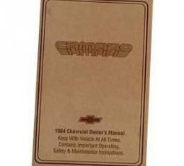 Camaro Owner's Manual, 1984