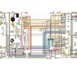 Camaro Color Laminated Wiring Diagram, 1969
