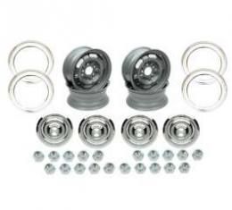 Camaro Rally Wheel Kit, 15 x 6, Complete, For Cars With Disc Brakes, 1967
