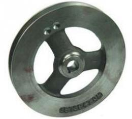 Camaro Power Steering Pump Pulley, 302ci & 396/375hp, 1967-1968, 396/325-350hp, 1968, Deep Single Groove, Cast Iron