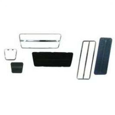 Camaro Pedal Pad & Trim Kit, For Cars With Drum Brakes & Automatic Transmission, 1969-1981