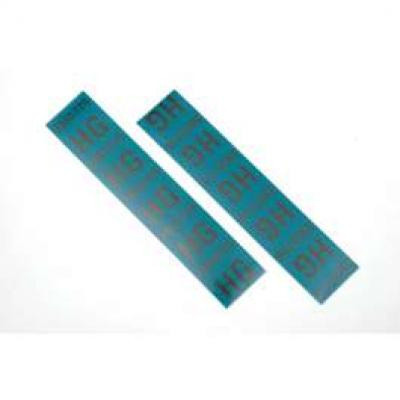 Camaro Coil Spring Tape Decals, Code HG, ZL1, For Cars With4-Speed Manual Transmission, 1969