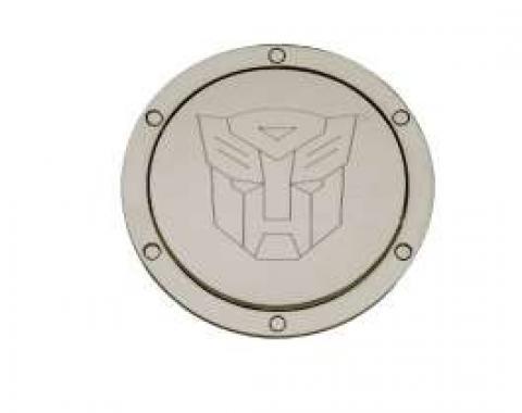 Camaro Transformers Autobot Logo, Chrome Billet, Non-Locking Gas Door, 2010-2013