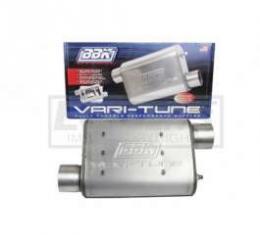 Camaro BBK 2-3/4 Vari-Tune Adjustable Aluminized Steel Performance Muffler, Offset