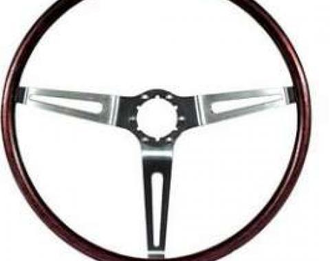 Camaro Deluxe Wood Steering Wheel, Rosewood, 1969