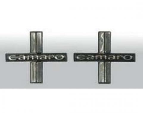 Camaro Door Panel Emblems, Deluxe Interior, 1967