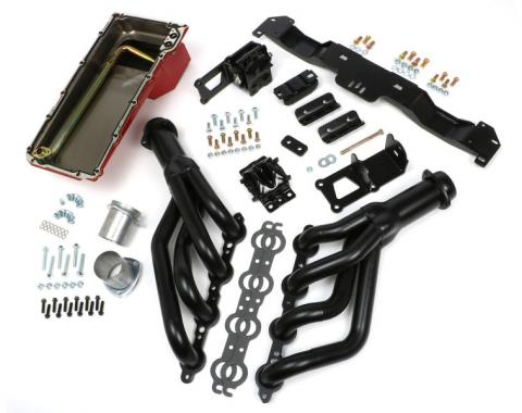 F-Body Swap-in-a-box Kit, LS Engine, Black Headers, 1970-1981