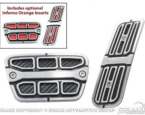 Drake Muscle Cars 2010-14 Camaro Pedal Covers-Automatic CA-180005-A