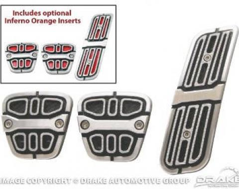 Drake Muscle Cars 2010-14 Camaro Pedal Covers-Manual CA-180005-M