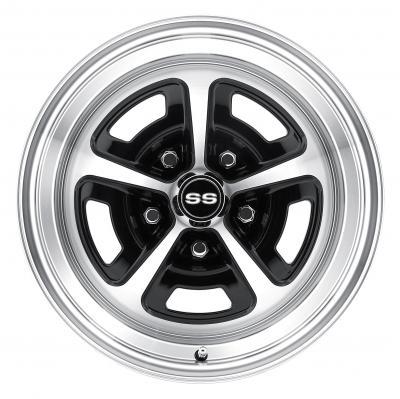 Legendary Wheels 16 x 8 Magnum Wheel, 5 on 4.75 BP, 4.5 BS, Gloss/Black Machined LW50-60857A