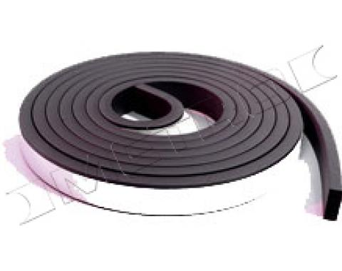 """Adhesive Backed Weatherstripping, 3/4"""" Wide x 5/16"""" Thick, 10 Feet Long"""