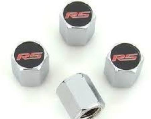 Valve Stem Caps Chrome, RS Red