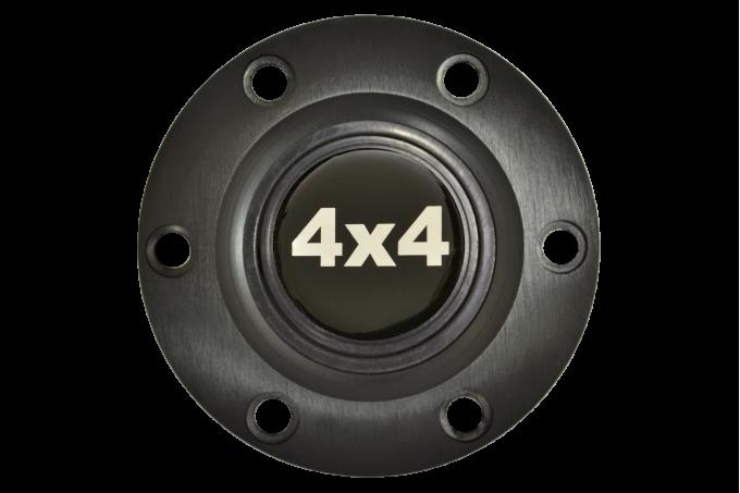 Volante S6 Series Horn Button Kit, 4x4, Black