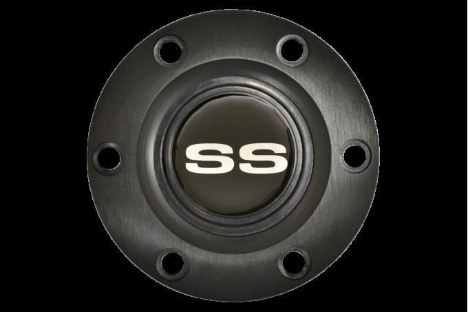 Volante S6 Series Horn Button Kit, Silver Super Sport, Black