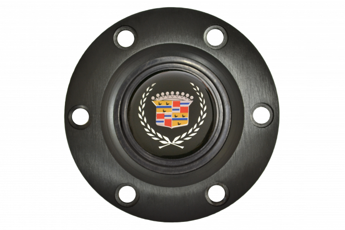 Volante S6 Series Horn Button Kit, Cadillac, Black