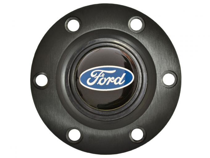 Volante S6 Series Horn Button Kit, Ford Blue Oval, Black