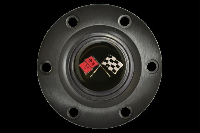 Volante S6 Series Horn Button Kit, Cross Flags, Black