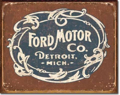 Tin Sign, Ford - Historic Logo