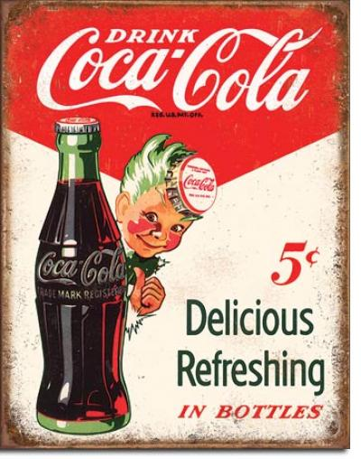 Tin Sign, COKE - Sprite Boy 5 Cents