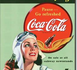 Tin Sign, COKE Sends Thirst Flying