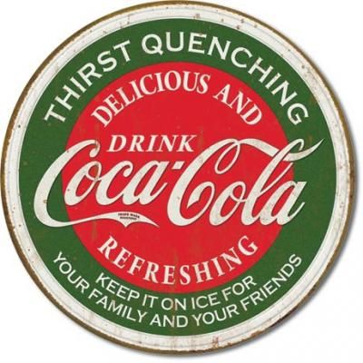 Tin Sign, COKE - Thirst Quenching