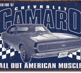 Tin Sign, Camaro - 1967 Muscle