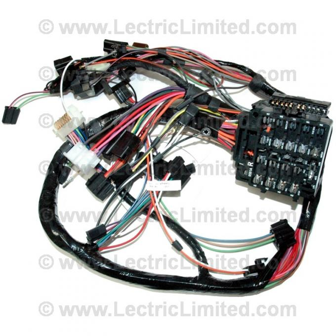 Firebird Under Dash Main Wiring Harness, For Cars With Automatic Transmission & Factory Rally Gauges, 1979