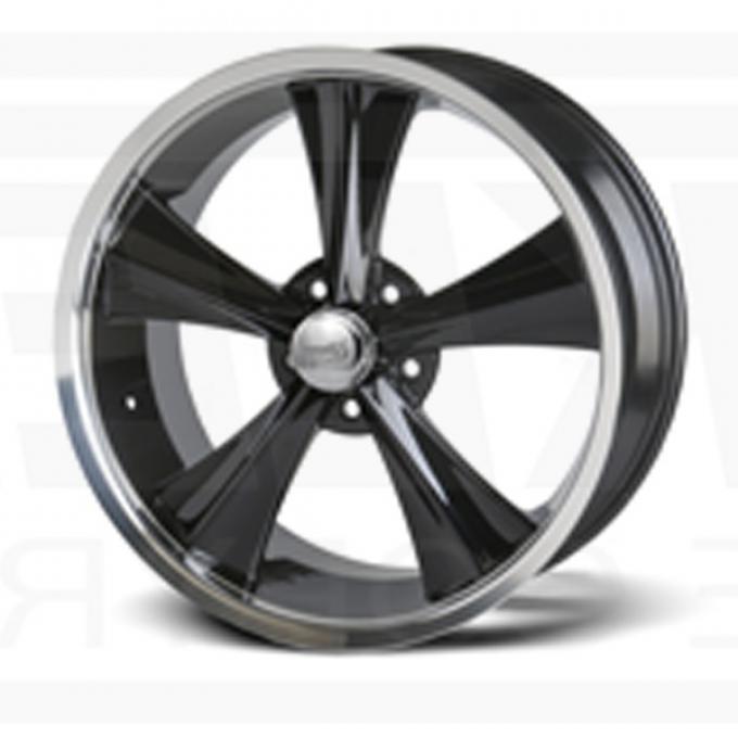 Camaro Black Modern Muscle Wheel, 18x9, 5x4 3/4 Pattern, 1993-2002