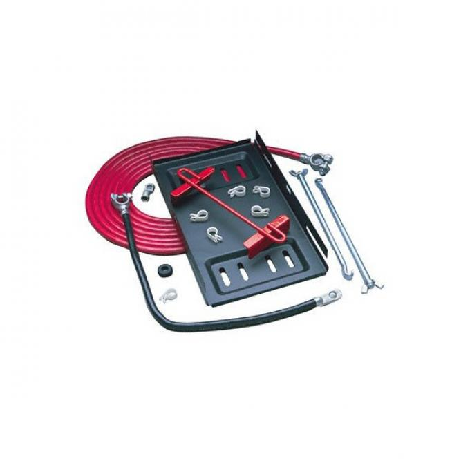 Single Trunk Mount Battery Relocator Kit, 1-Gauge