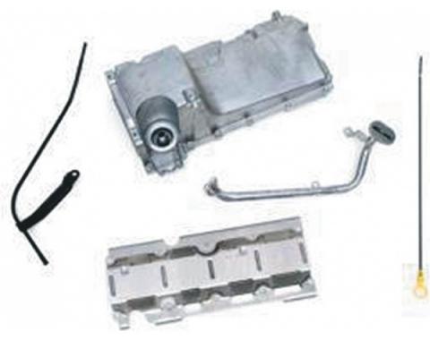 Camaro Engine Oil Pan Kit, Aluminum, For LS1/LS2/LS6 Engines, 1970-1981