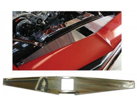 Camaro Core Support Filler Panel, Polished Aluminum, 1967-1969