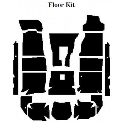 Camaro Insulation, QuietRide, AcoustiShield, Floor Kit, Convertible, 1994-2002