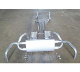 Exhaust System, Small Block With Resonators, Except Z28, Original Style, 1967-1968