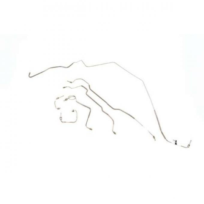 Camaro Disc Brake Line Set, Manual, Steel 1978-1980