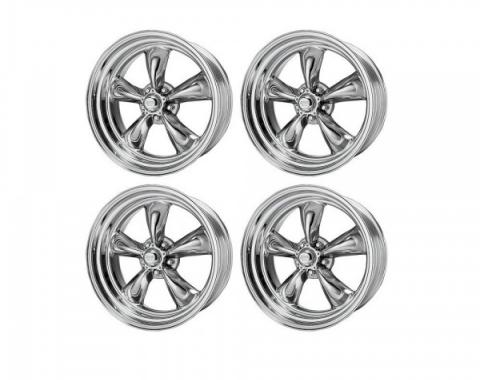 Chevy American Racing Torq Thrust II Wheel Set, Polished Aluminum, 15X8