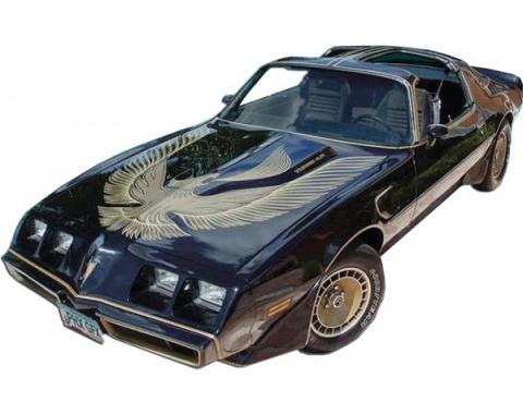 Firebird Decal Kit, Dark Gold Trans Am, Turbo, Black, Special Edition, 1981